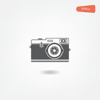 Camera icon retro vintage illustration