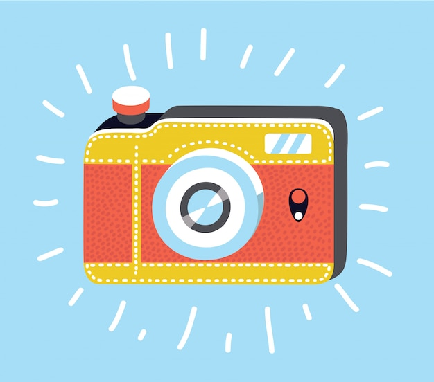 Camera icon in trendy flat style isolated on grey background. camera symbol for your web site design, logo, app, ui. illustration