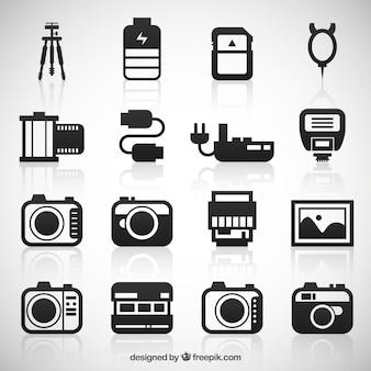 Raccolta di icone della fotocamera