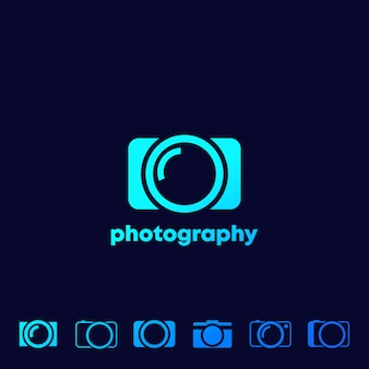 Camera icons, photography logo set