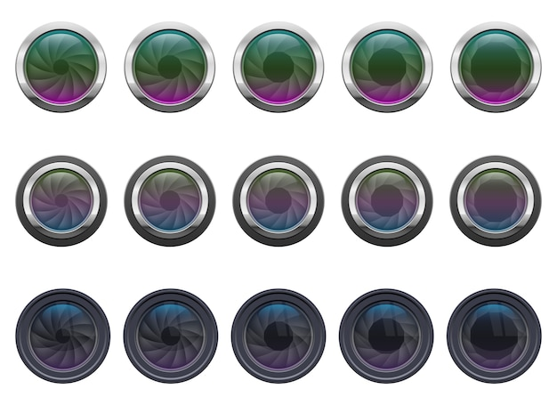 Объектив камеры, изолированные на белом фоне