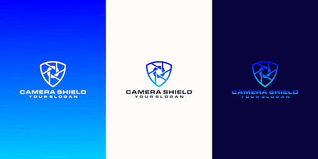 Camera logo and security concept with outline style