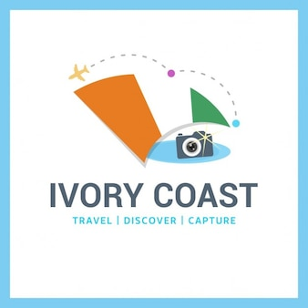 Camera logo with flag ivory coast