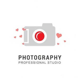 Camera logo with hearts