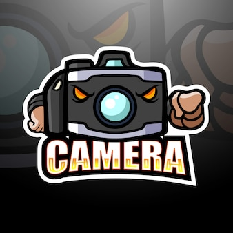 Camera mascot esport illustration