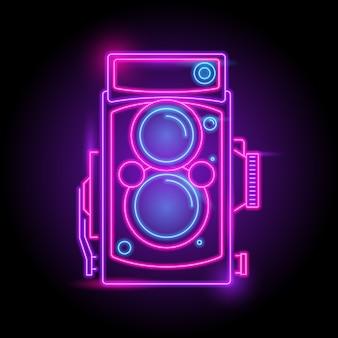 Camera neon logo