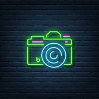Элементы камеры неоновый знак