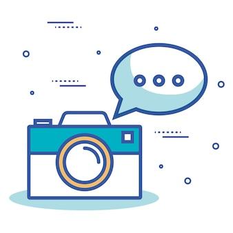 Camera photographic with icon vector illustration design