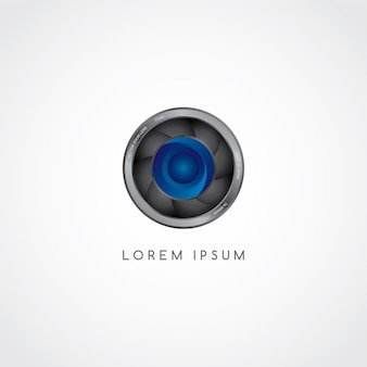 Camera photography button logotype