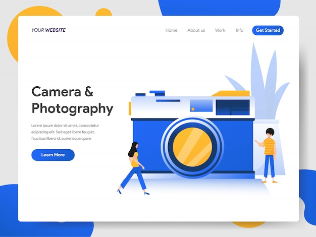 Camera and photography  concept