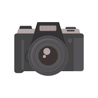Camera photography equipment lens technology vector.
