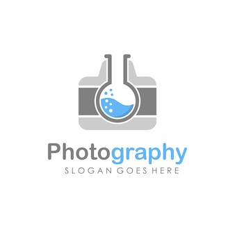 Camera and photography logo illustration full