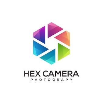 Camera round logo template