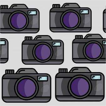 Бесшовный узор камеры