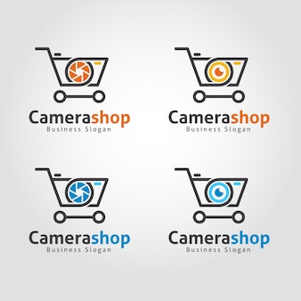 Camera shop logo template