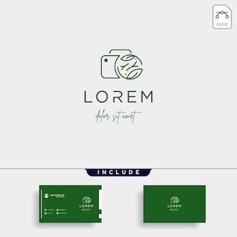 Camera shutter leaf logo design vector illustration