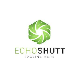 Camera shutter and leaf logo