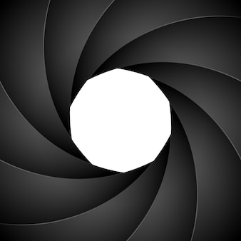 Апертура фона фотографии затвора камеры. фокус вектор черный объектив зум цифровой дизайн.