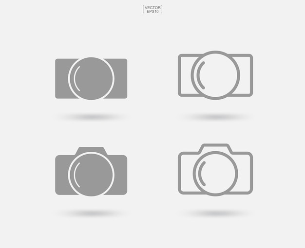 Camera sign and symbol. photo icon or image icon. vector illustration.