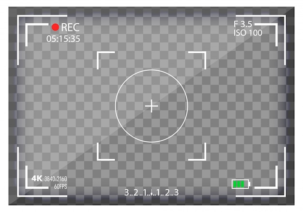 Camera viewfinder, mirorless, dslr. digital focus.