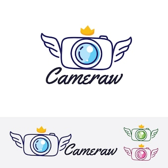 Camera wings logo template