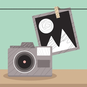 Camera with photography