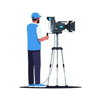 Полуплоский цветной rgb cameraman