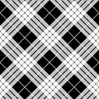 Cameron black white tartan plaid pixel seamless pattern