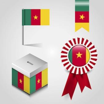 Cameroon flag design vector