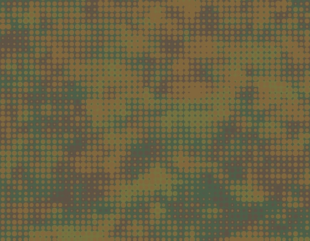 Camouflage backgound with halftone effect