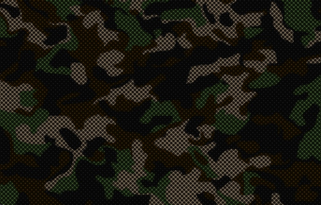 Camouflage background with halftone effect
