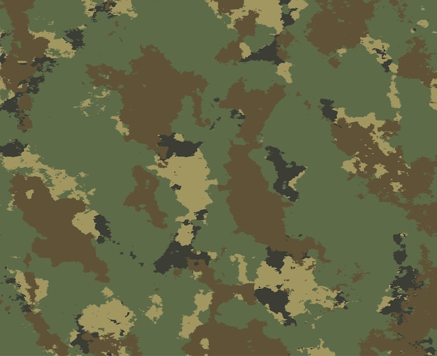 Camouflage military background in grunge style