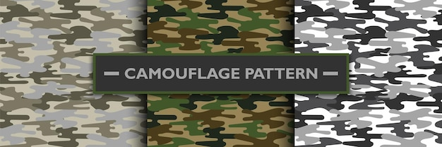 Camouflage military pattern, vector illustration Premium Vector