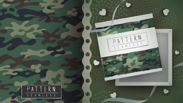 위장 군사 원활한 패턴-인쇄 아이디어