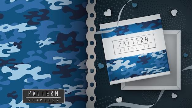 위장 군사 원활한 패턴-인쇄 아이디어.