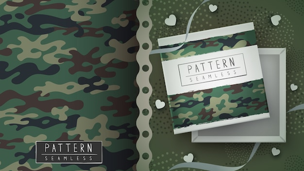 Camouflage military seamless pattern - idea for print