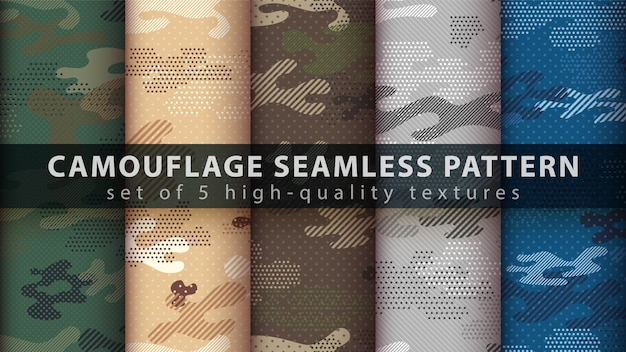 Camouflage military seamless pattern - idea for print.