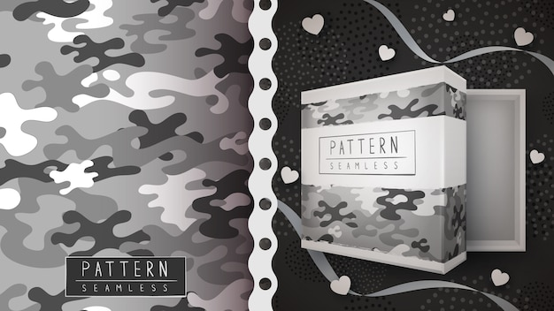 Camouflage military seamless pattern  .