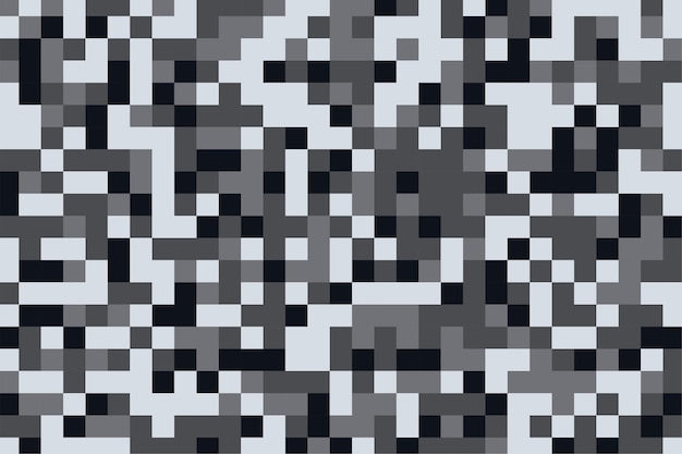 Camouflage pattern texture in pixel gray shades background