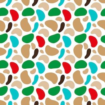 さまざまな形の斑点のあるカモフラージュパターンベクトル図