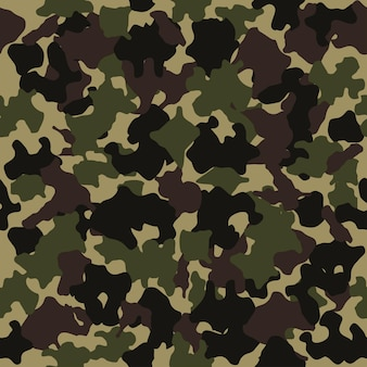 Camouflage seamless pattern fashion design for masking military style green brown black