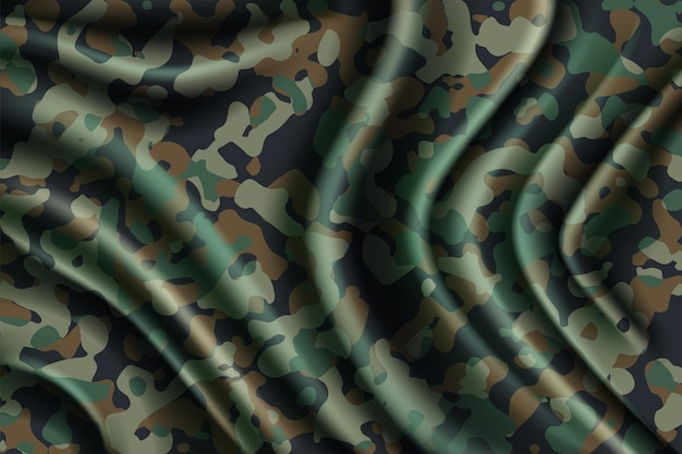Camouflage seamless pattern forest texture clothing style camo print