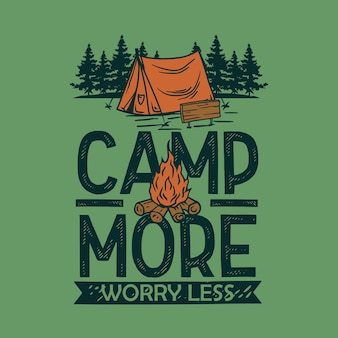 Camp more t shirt graphic