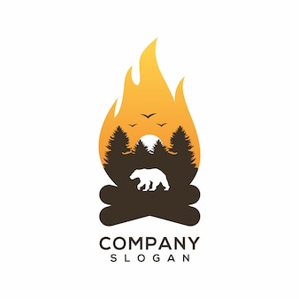 Camper logo vector