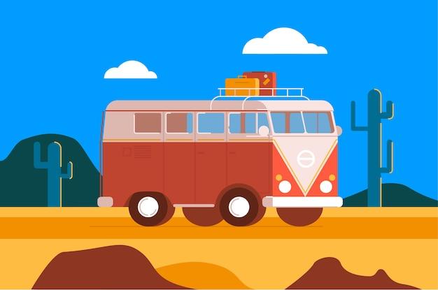 Camper van roadtrip