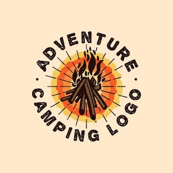 Campfire adventure logo