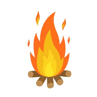 Огонь у костра