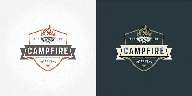 Иллюстрация эмблемы логотипа костра o