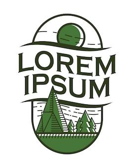 Логотип кемпинга зеленый