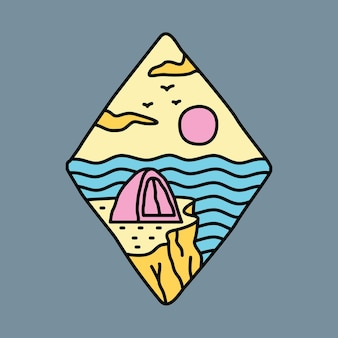 Camping adventure and beauty summer graphic illustration vector art t-shirt design